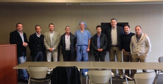 Grupo de Cirujanos Españoles con Michael Berent (Ohio, USA) en 2013